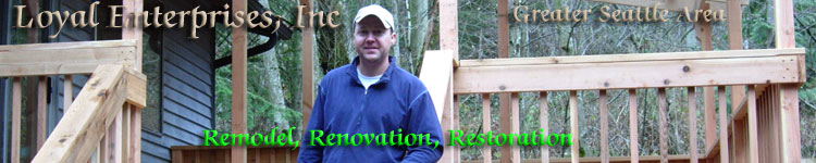remodeling, renovation, restoration deck
